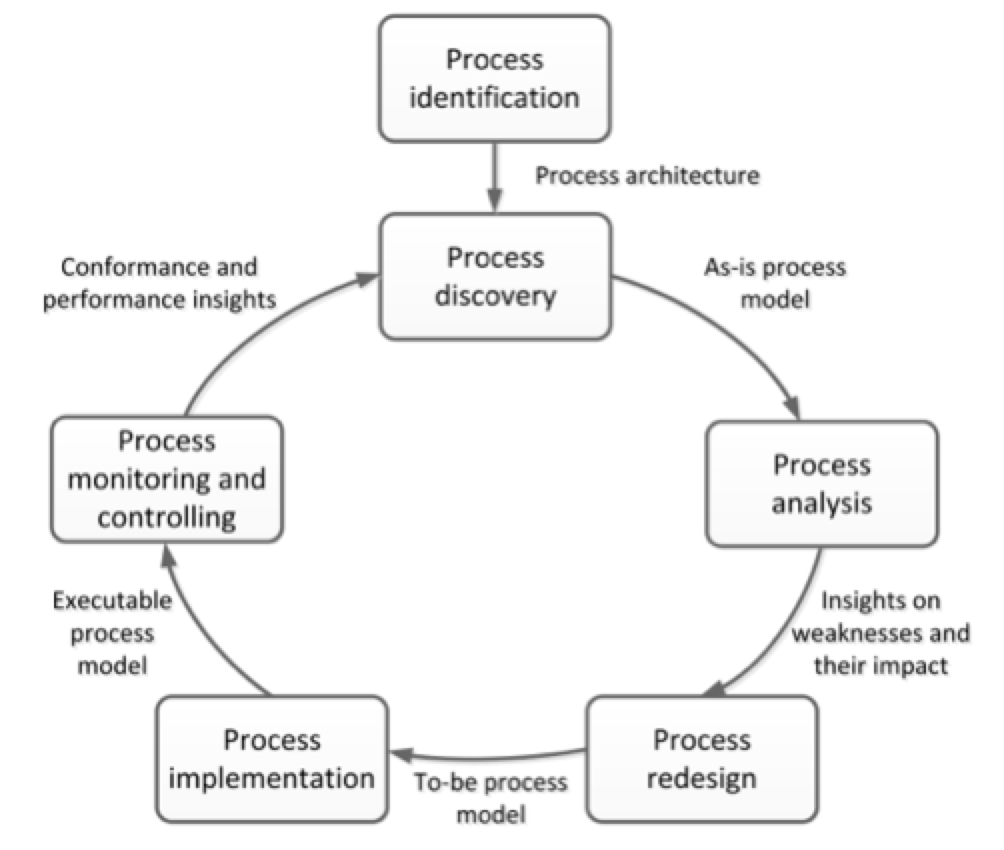 The transportation network business process efficiency lower costs - Figure 1 Bpm Lifecycle